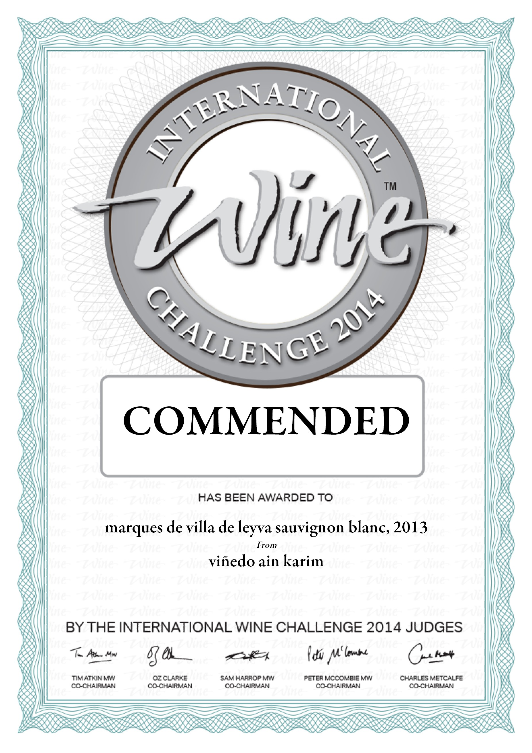 international challange commended 2013